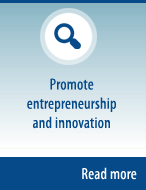 Promote entrepreneurship and innovation