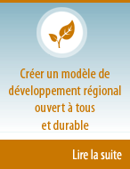 Create a socially inclusive and sustainable model of regional development